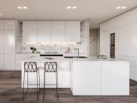 White-Marble-Kitchen-Dark-Wood-Floors