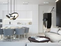 White-and-Grey-Kitchen-Living-Area-