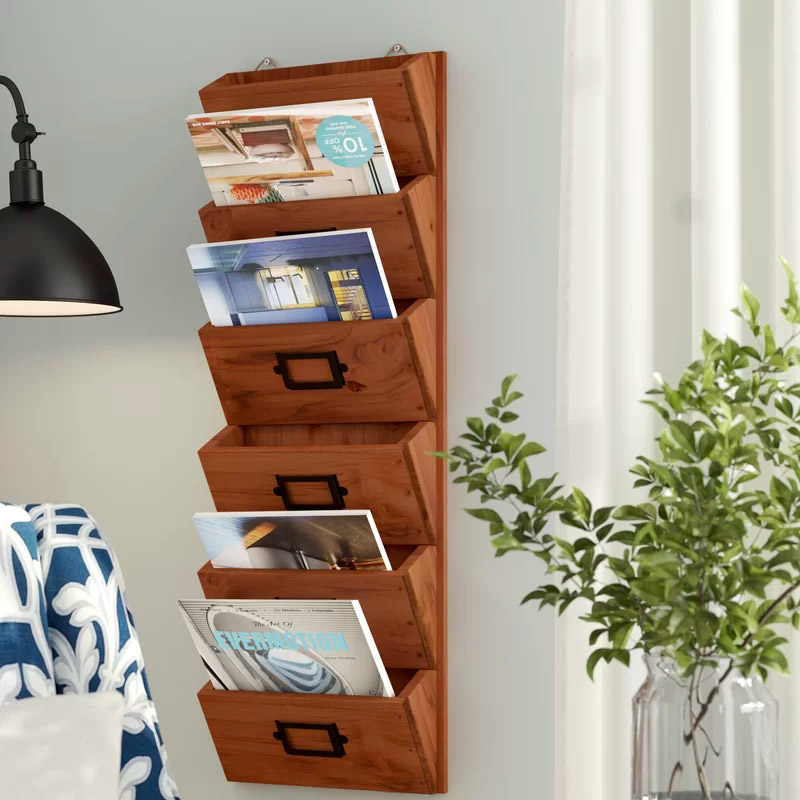 Wooden-Wall-Magazine-Holder-Farmhouse-Mail-Organizer-Wood-Large