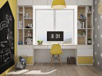 Yellow-kids-study-room