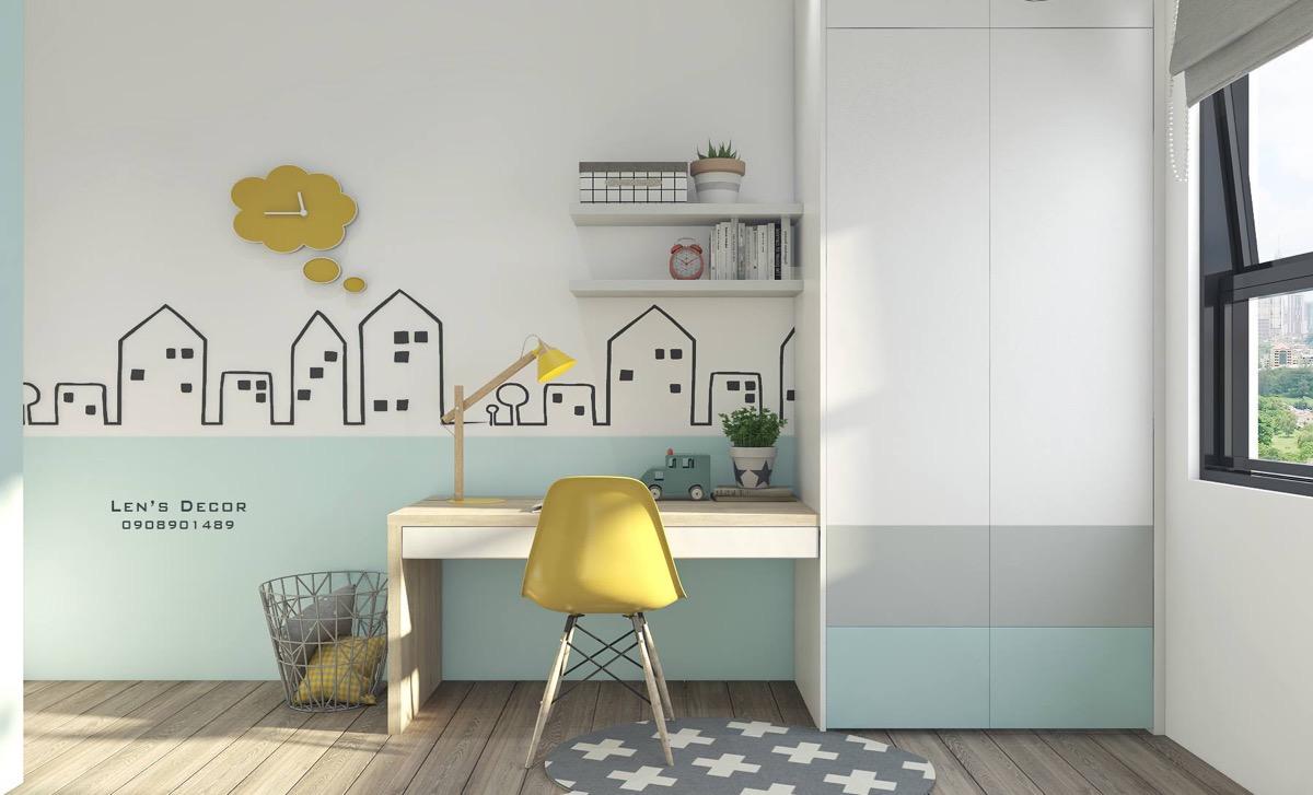 yellow and gray room decor