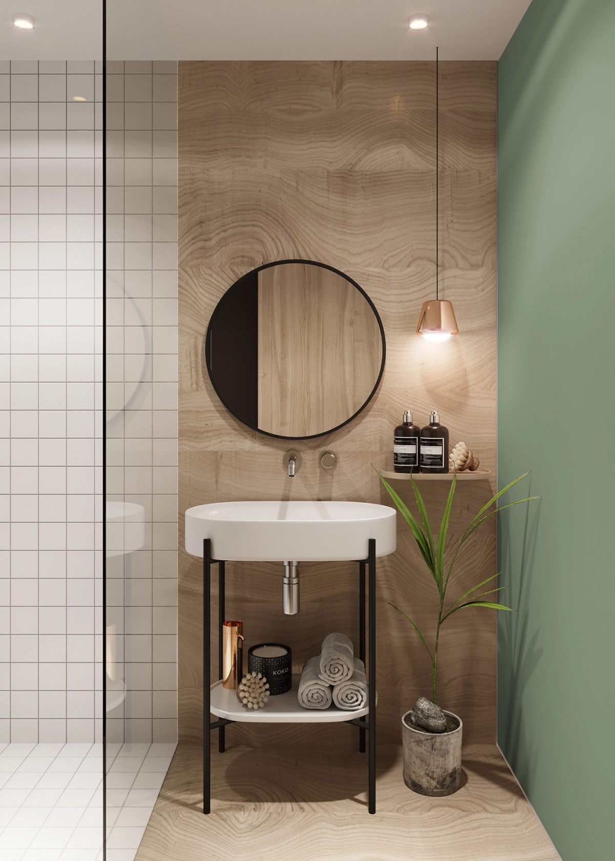 bathroom-vanity-lighting-copper-pendant