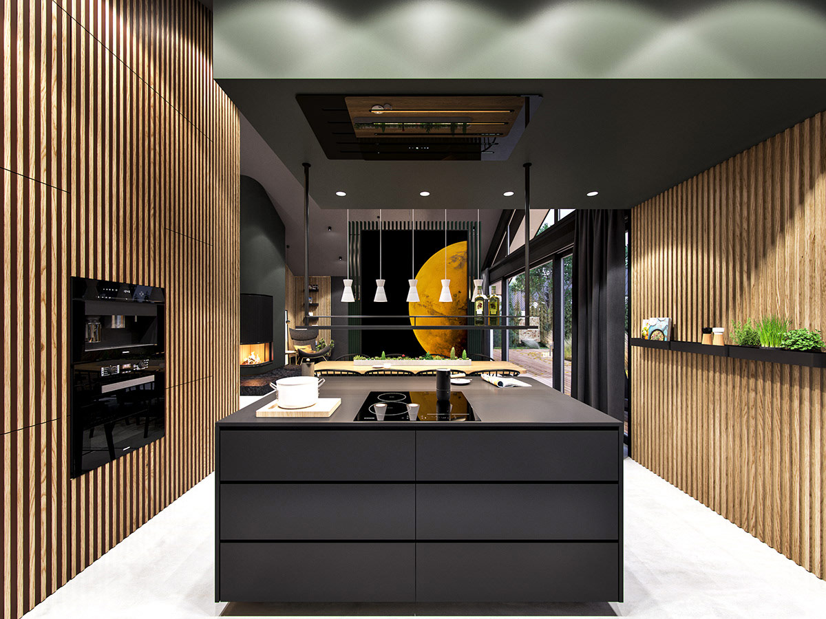 black-and-wood-kitchen