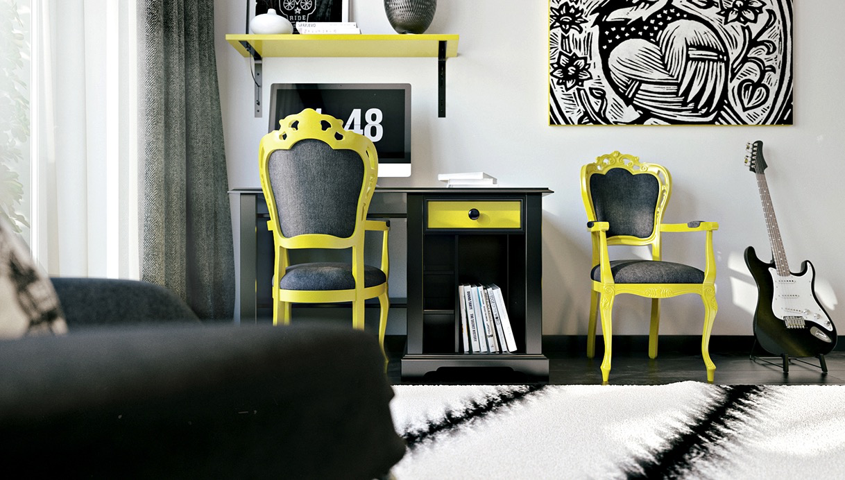 black-and-yellow-interior