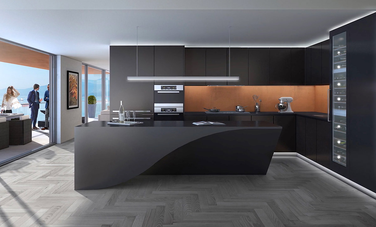 Admirable Black Curved Bench Kitchen Amber Inlet Chrome Lighting Pdpeps Interior Chair Design Pdpepsorg