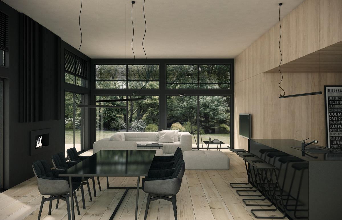 black-dining-room-set