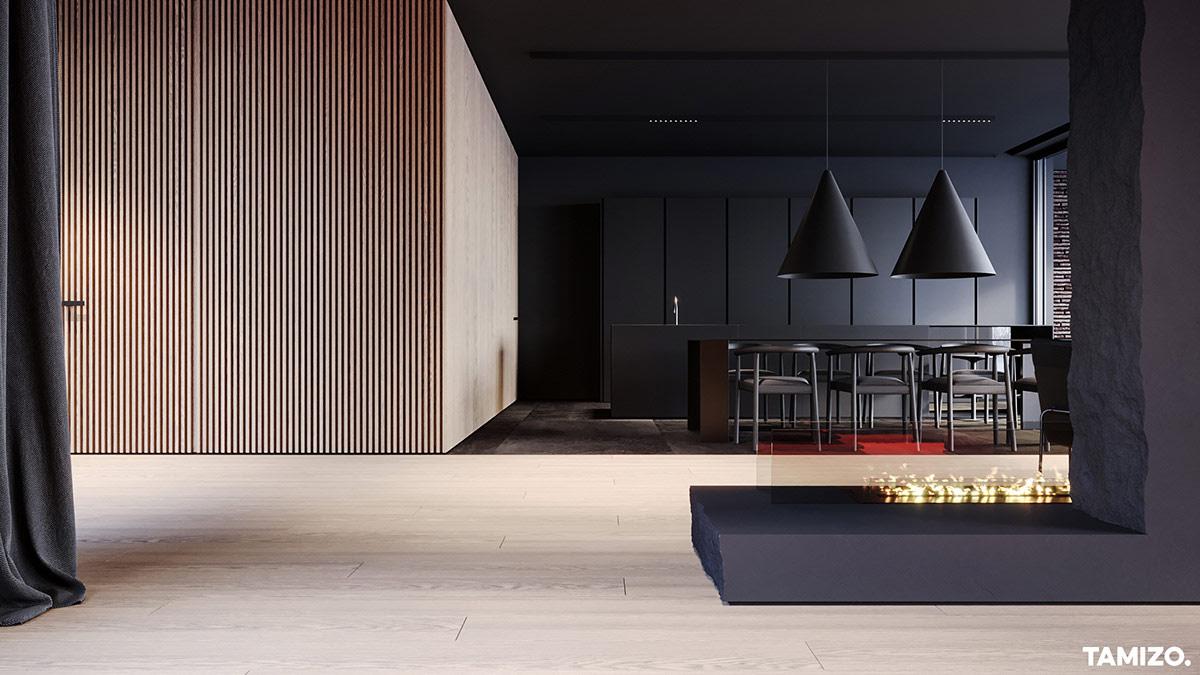 black-dining-room