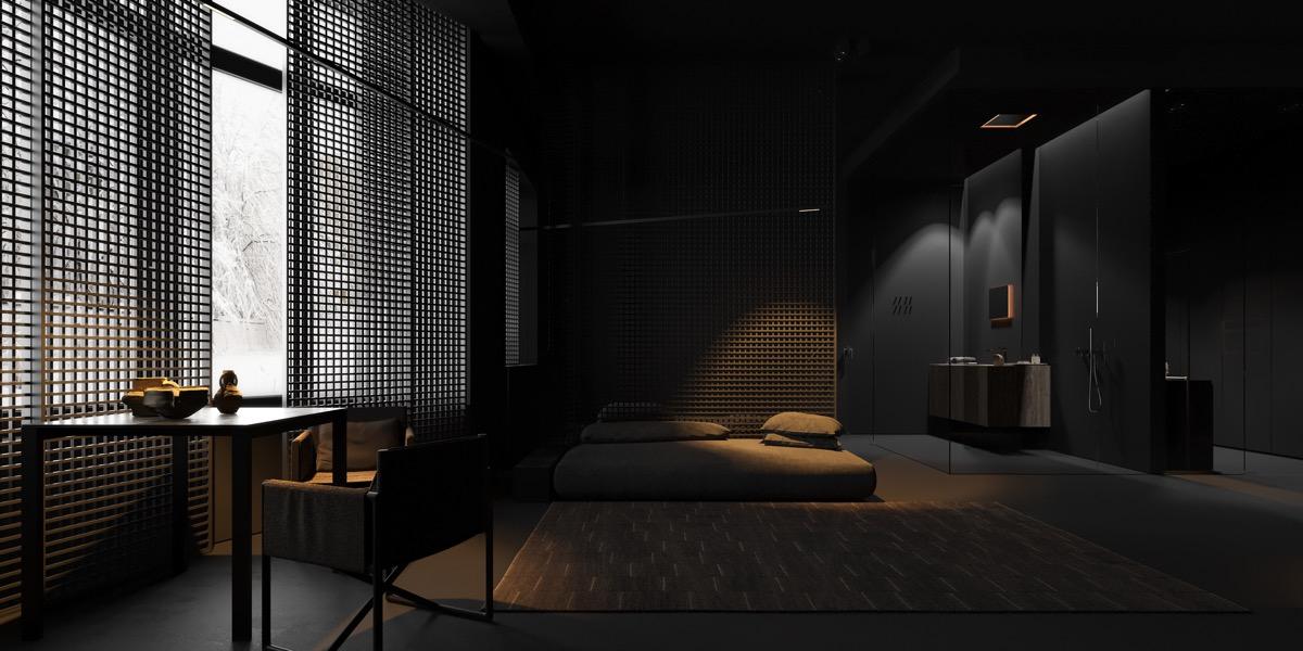black-furniture-bedroom