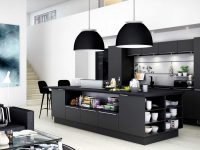 black-inlet-kitchen-white-surrounds-two-dome-black-lights