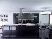 black-kitchen-white-panelling-dining-area-to-the-side