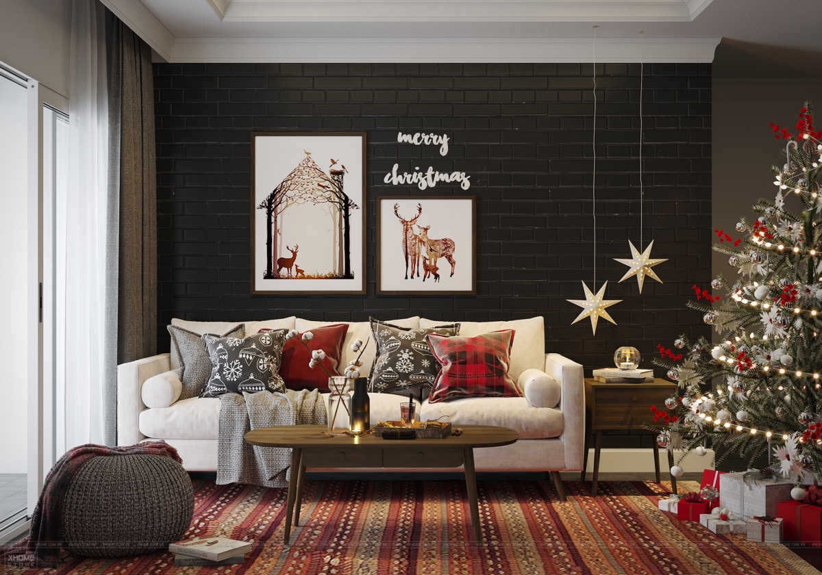 black-living-room-christmas-decor