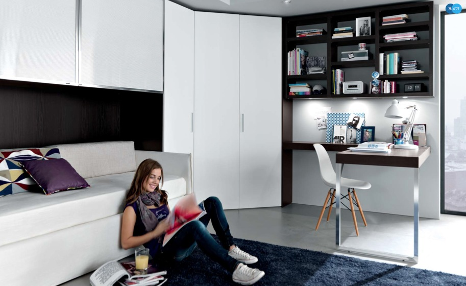 black-white-Contemporary-Teenagers-Room