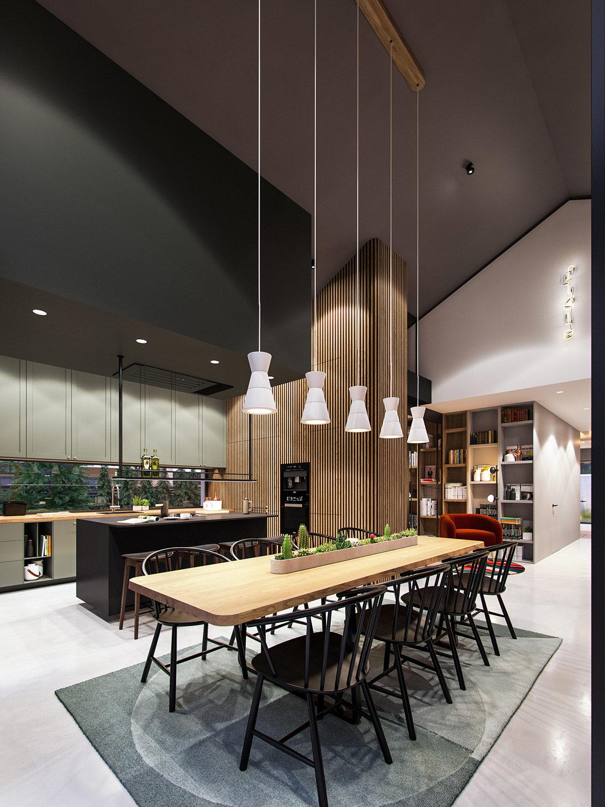 black-wood-kitchen-diner