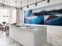 blue-seascape-six-piece-painting-marble-kitchen