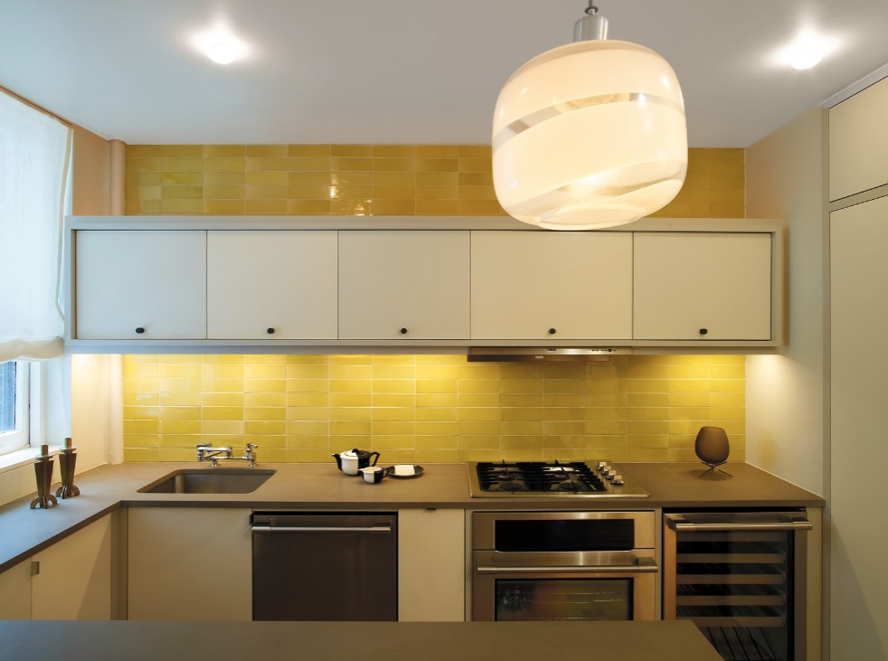 brilliant-yellow-tile-backsplash