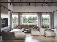 combination-living-and-dining-room-with-high-ceilings