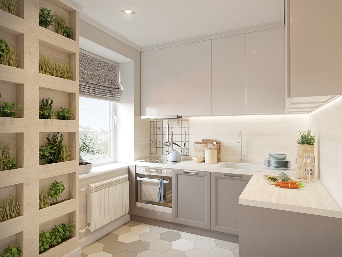 compartmentalised-kitchen-block-cubby-holes-grey-cabinetry