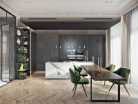 dark-charcoal-marble-kitchen-wood