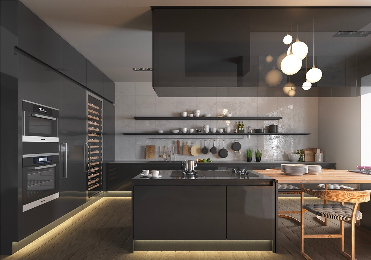 dark-glass-kitchen-elongated-open-shelving