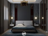 dark-wall-master-bedroom-luxury-decorating-ideas-with-pendant-lights