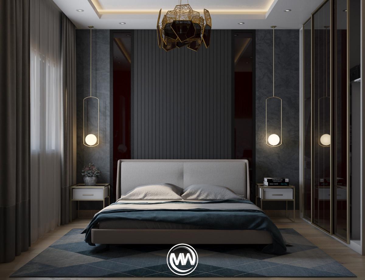dark-wall-master-bedroom-luxury-decorating-ideas-with-pendant-lights