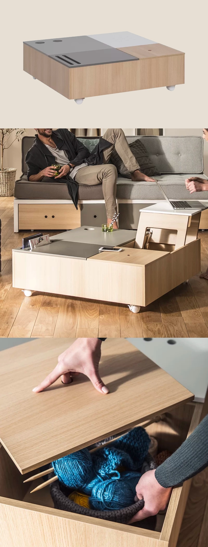 four-compartment-lift-top-coffee-table-with-wheels