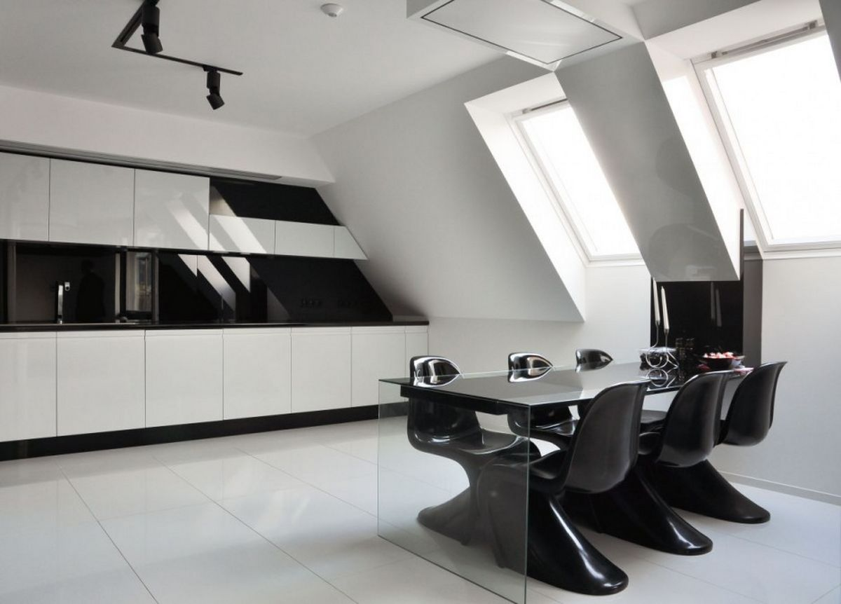 futuristic-black-and-white-kitchen