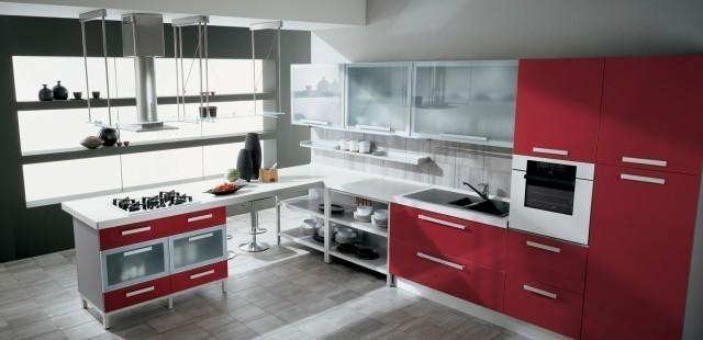 gatto-cucine-spa-red-kitchen