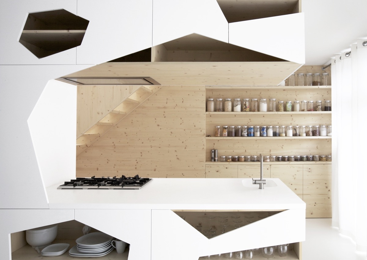 geometric-kitchen-white-c-shape-wooden-open-shelves
