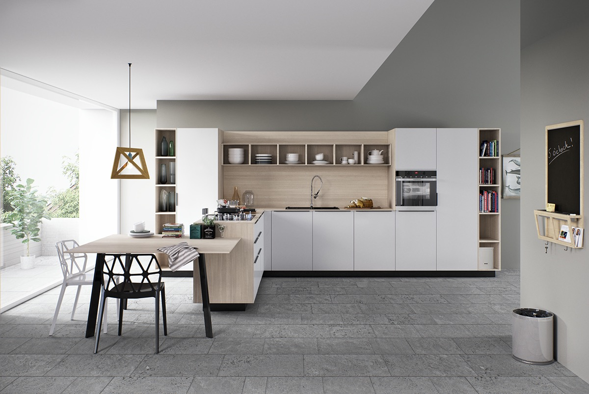 geometric-wood-and-white-kitchen