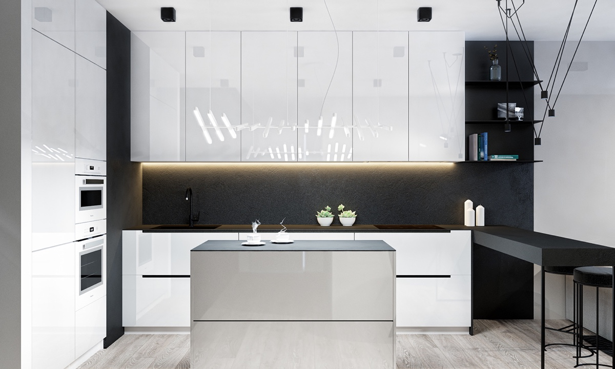 glossy-white-kitchen-cabinets-with-matte-backsplash