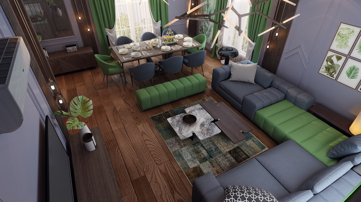 green-and-gray-living-room-design