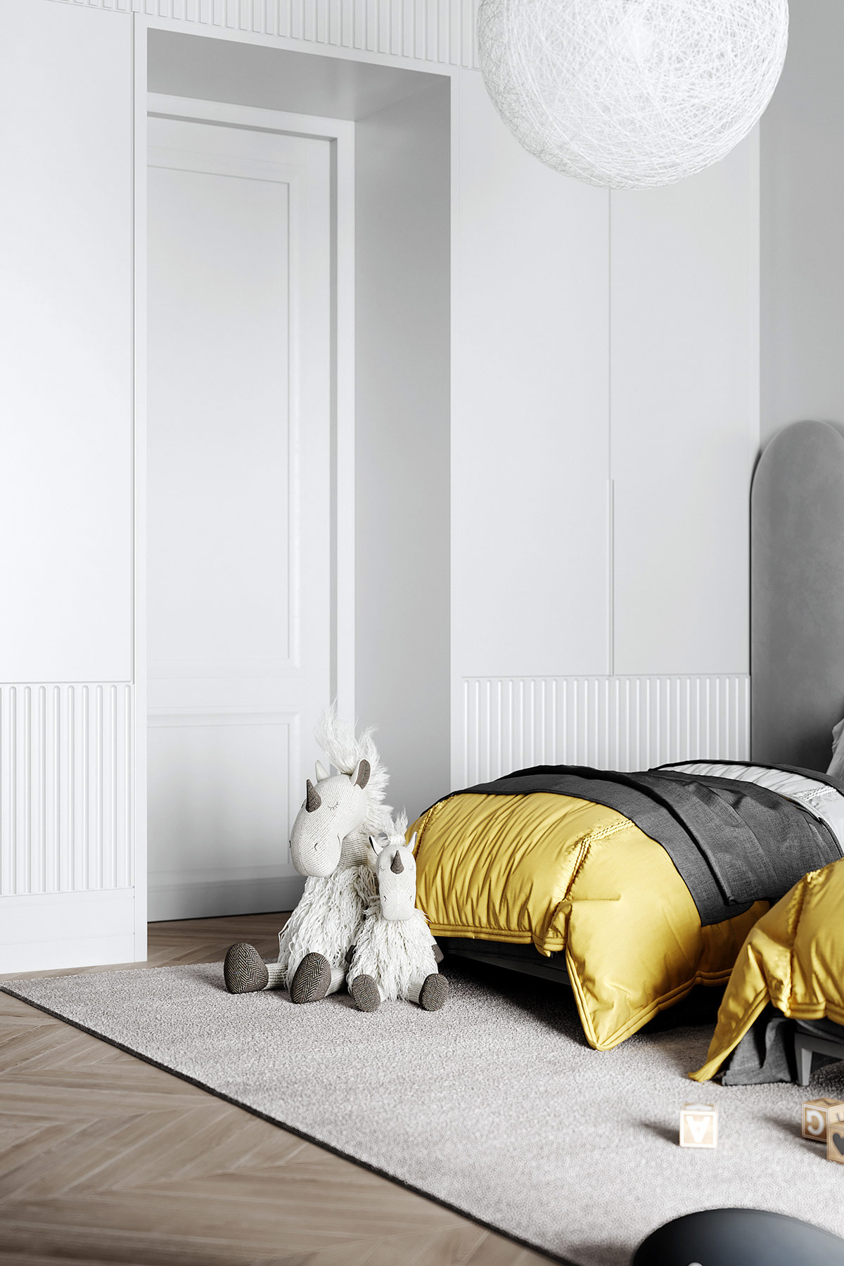 grey-and-yellow-kids-room