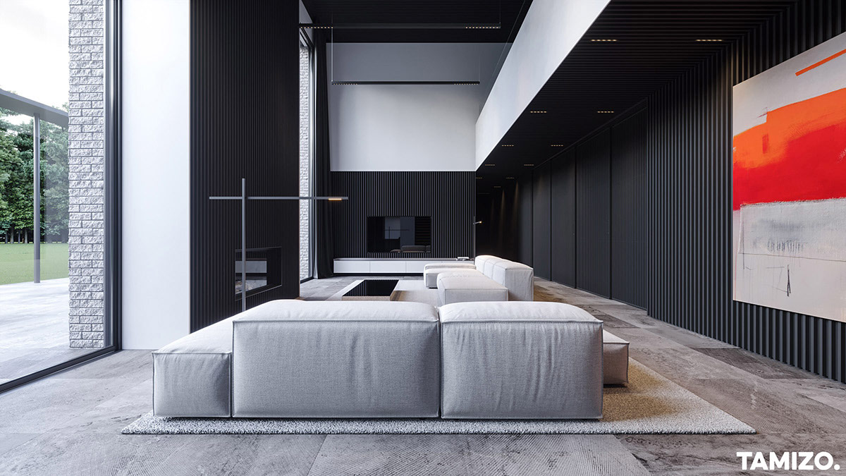 grey-living-room-with-red-accents