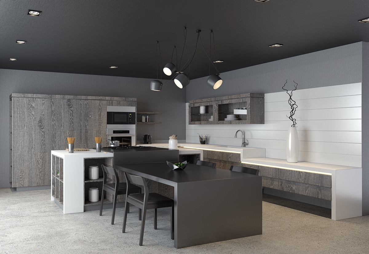 greyscale-kitchen-with-neutral-wood-cabinets