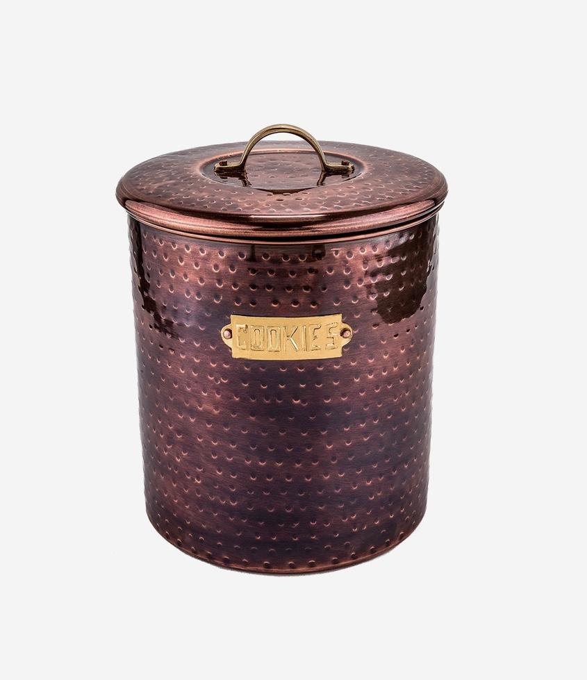 industrial-look-with-gold-plaque-antique-cookie-jars