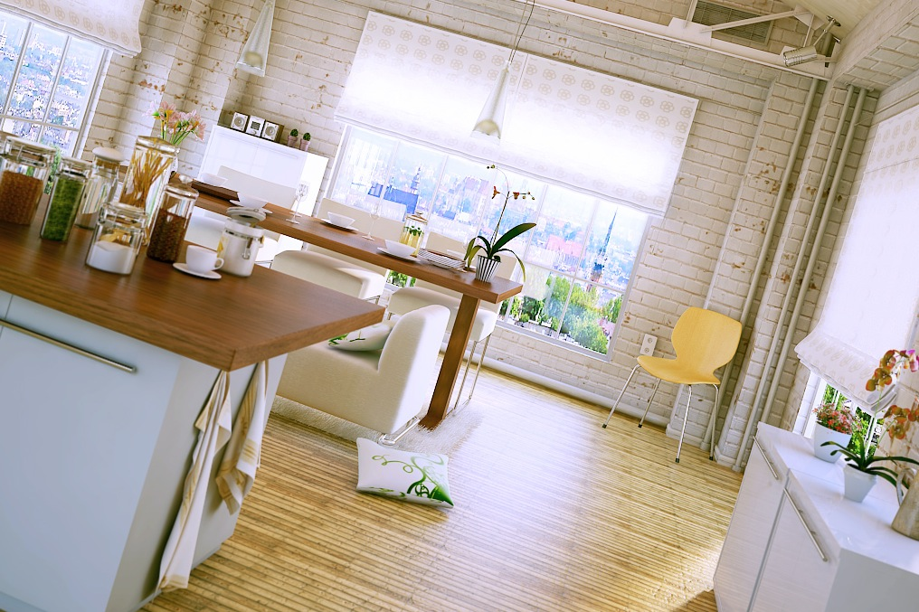 industrial-modern-kitchen-with-dining-area