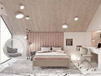 luxury-kids-bedroom-dustry-rose-black-and-white-pink-with-desk