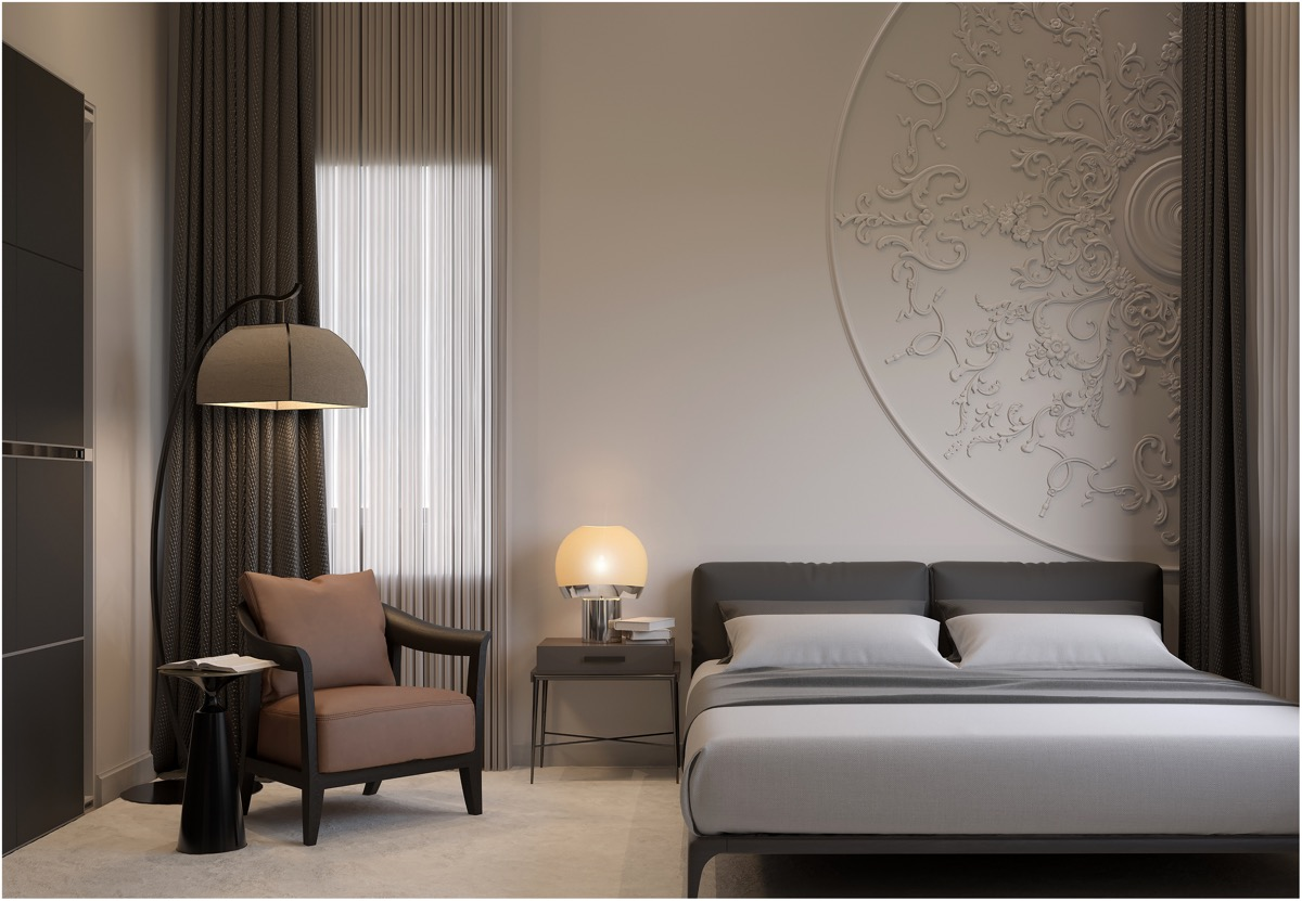 luxury-traditional-bedroom-with-decorative-molding-on-wall-white