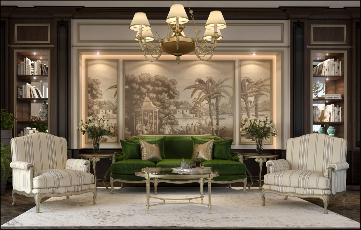 luxury-traditional-living-room - Awesome Decors