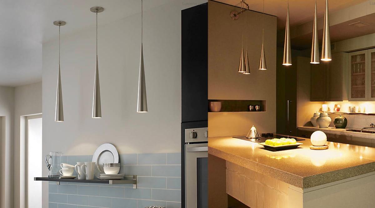 metallic-cone-kitchen-pendant-lights