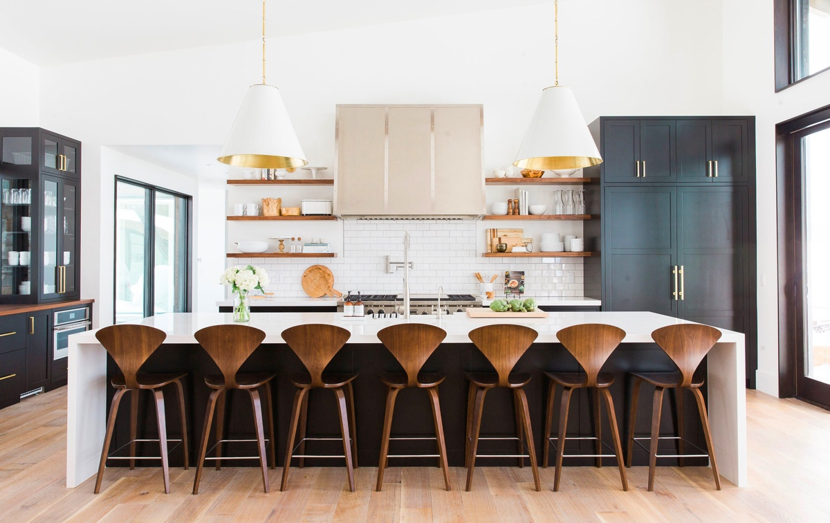 mid-century-modern-wooden-kitchen-stools-with-backs