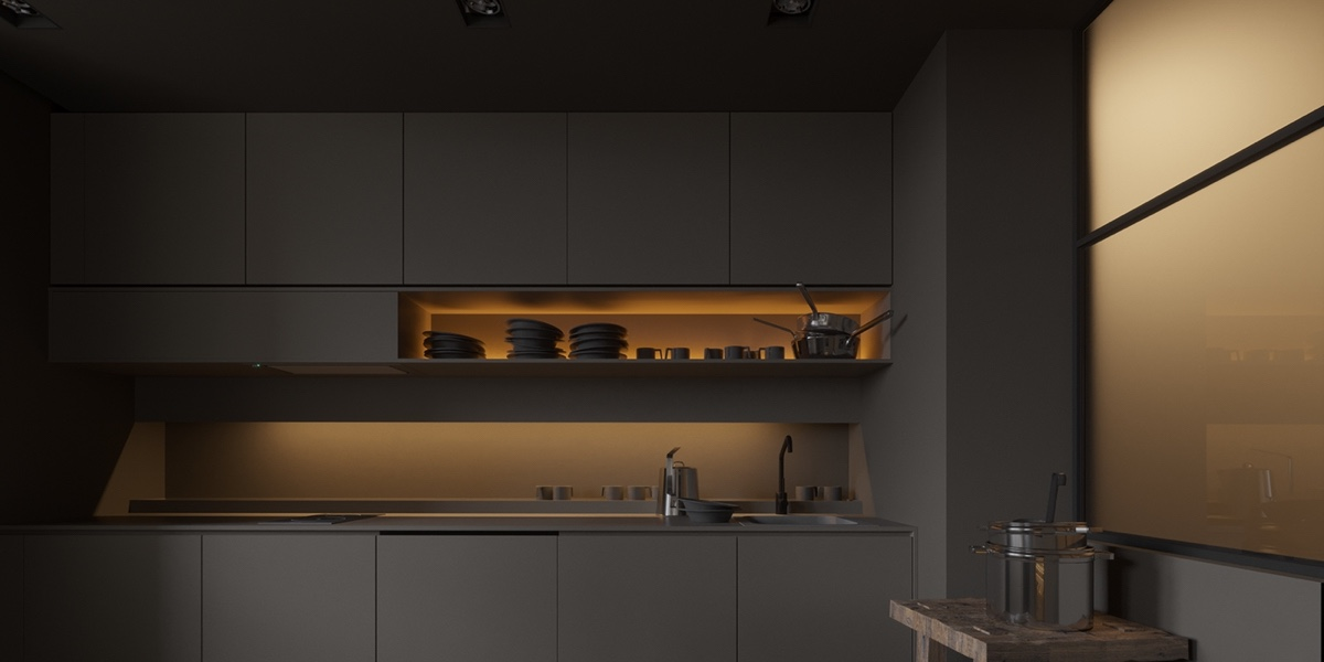 minimalist-gray-kitchen