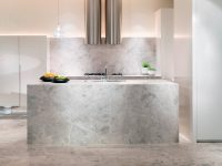 minimalist-speckled-marble-kitchen