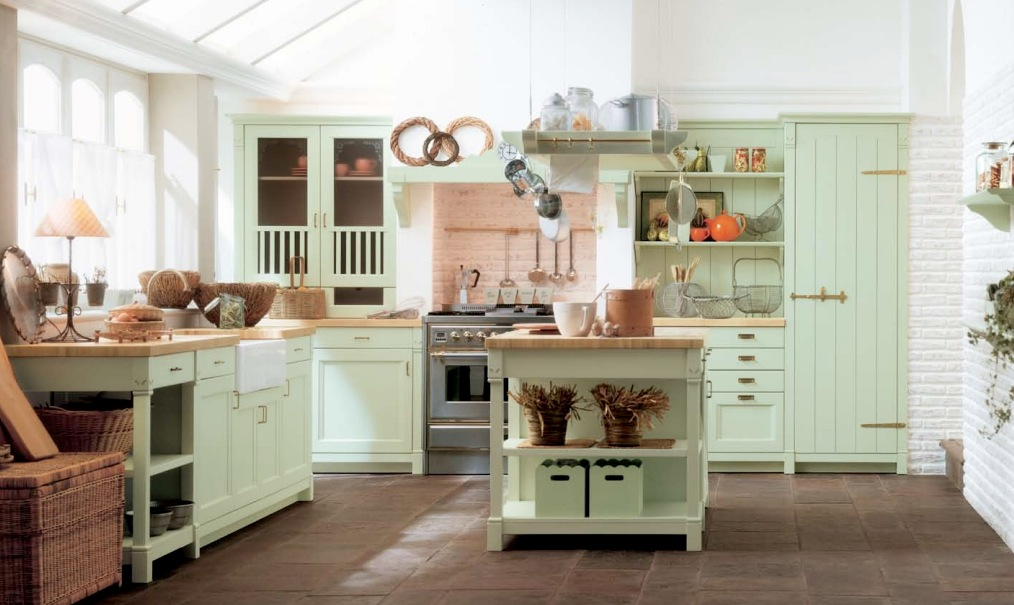 mint-green-country-kitchen-decor