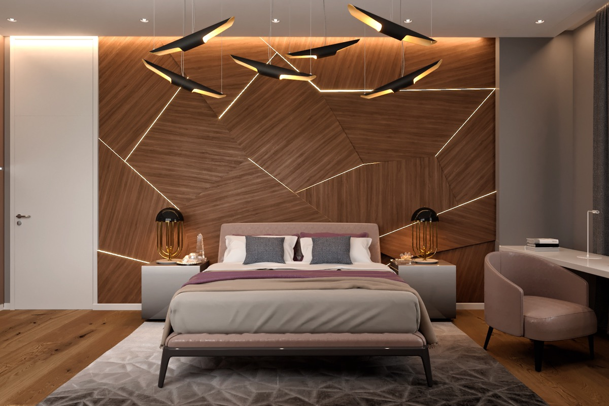 modern-bedroom-ceiling-lights - Awesome Decors