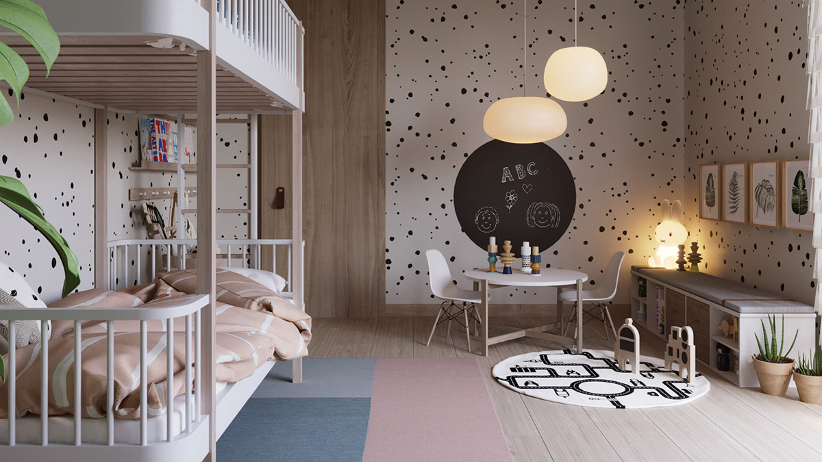 monochrome-kids-room