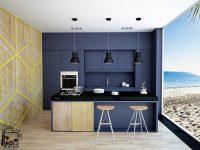 navy-beach-themed-kitchern-navy-central-wall-black-bench