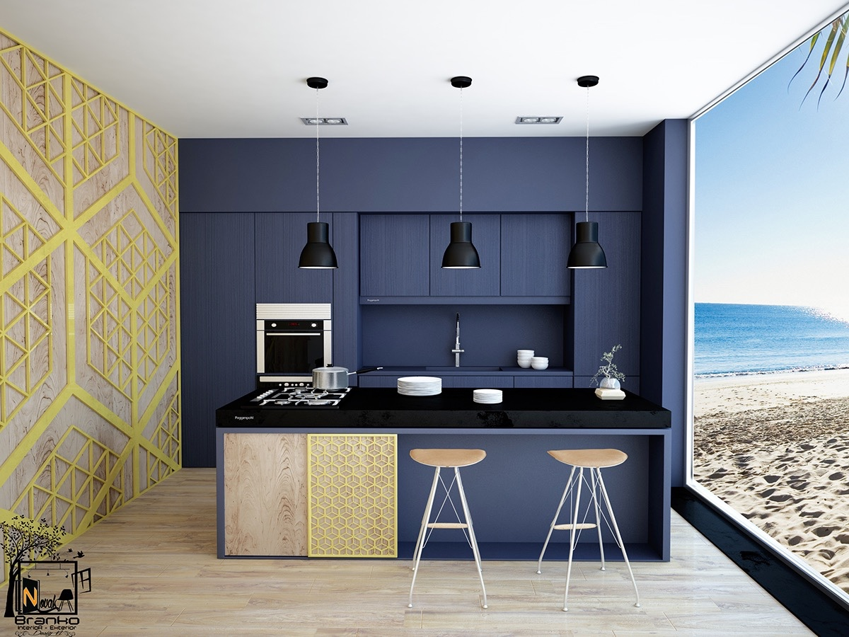 navy-beach-themed-kitchern-navy-central-wall-black-bench