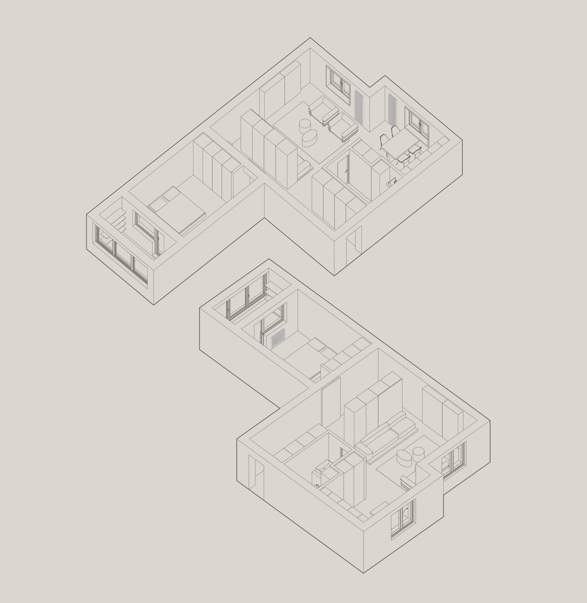 one-bed-apartment-perspective-drawing